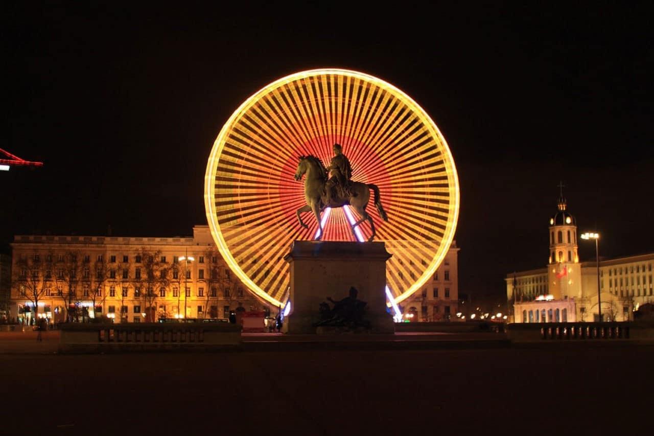 Place Bellecour de nuit - Lyon